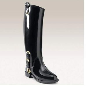 Ralph Lauren Black Rainboots Odette
